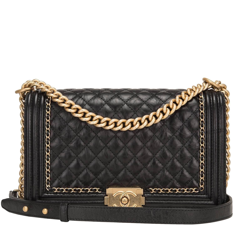 208d6ff25b58 Chanel Black Calfskin New Medium