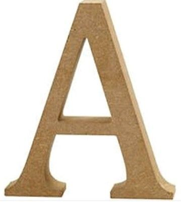 Freestanding Button art letter intial Letter A Choice of colour - gift letters