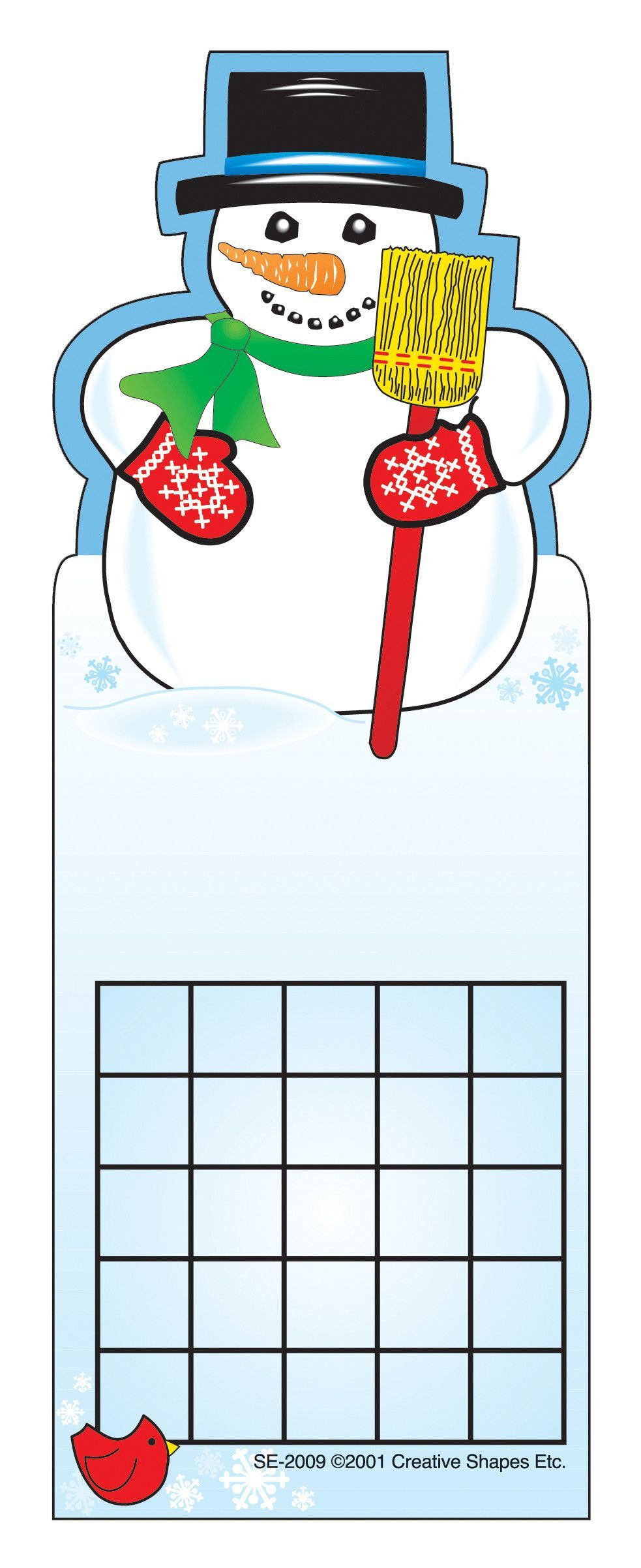 Personal Incentive Chart Snowman Attendance chart