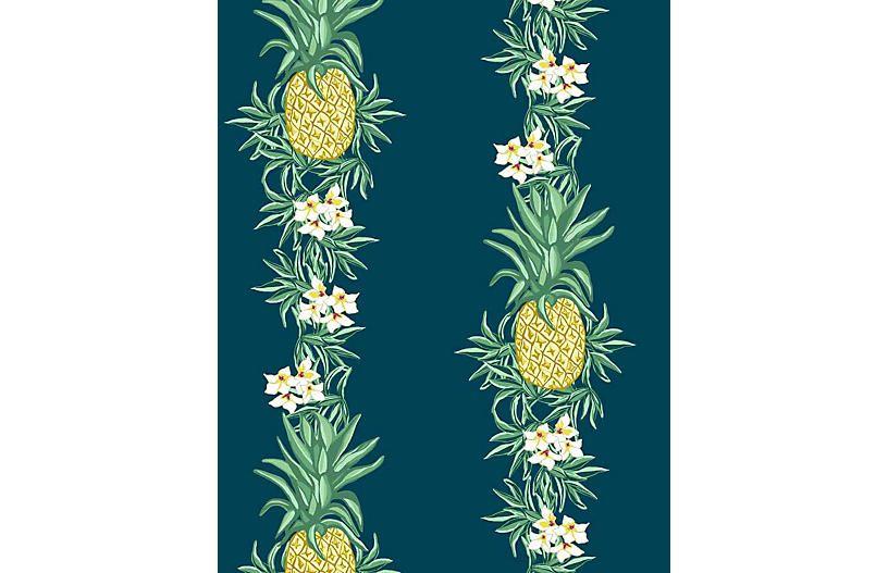 Pineapple Express Wallpaper Indigo Wallshoppe In 2019