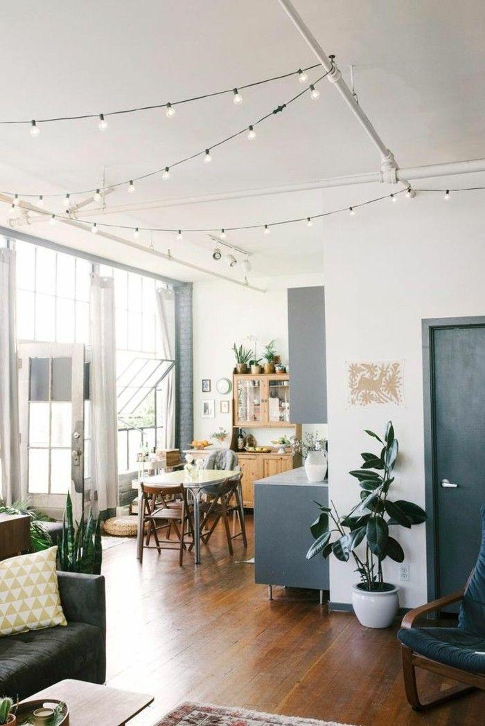 wohnungsdekoration dekoideen lichterketten wohnzimmer Dekoration