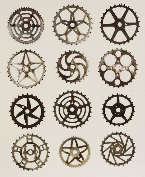 Typology of bike sprockets.