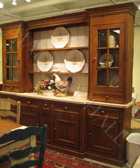 Beautiful Custom French Country China Cabinet Hutch As Shown With Extras