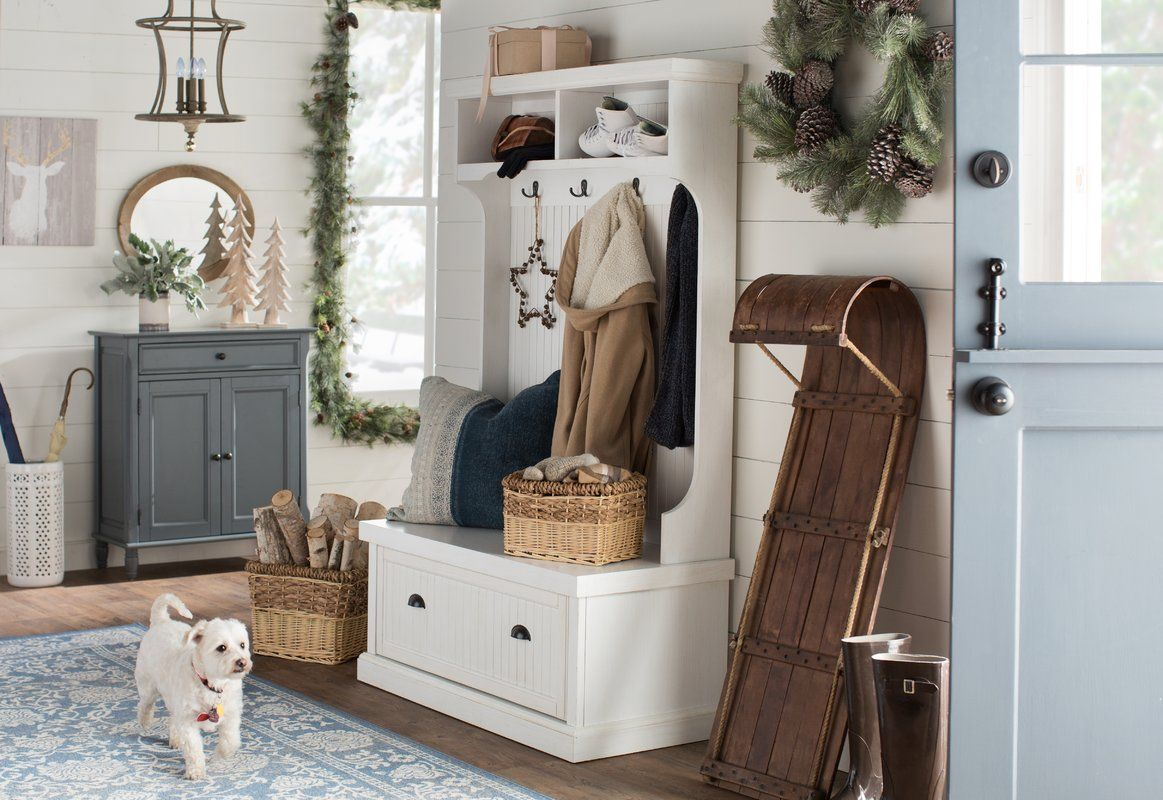 Halstead Hall Tree Bench Shoe Storage Entry Way Design Hall