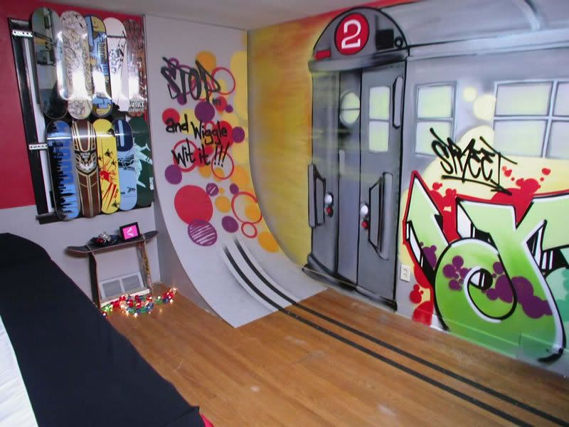 Cool boys room in 2019 skateboard room cool boys room - Cool things for boys room ...
