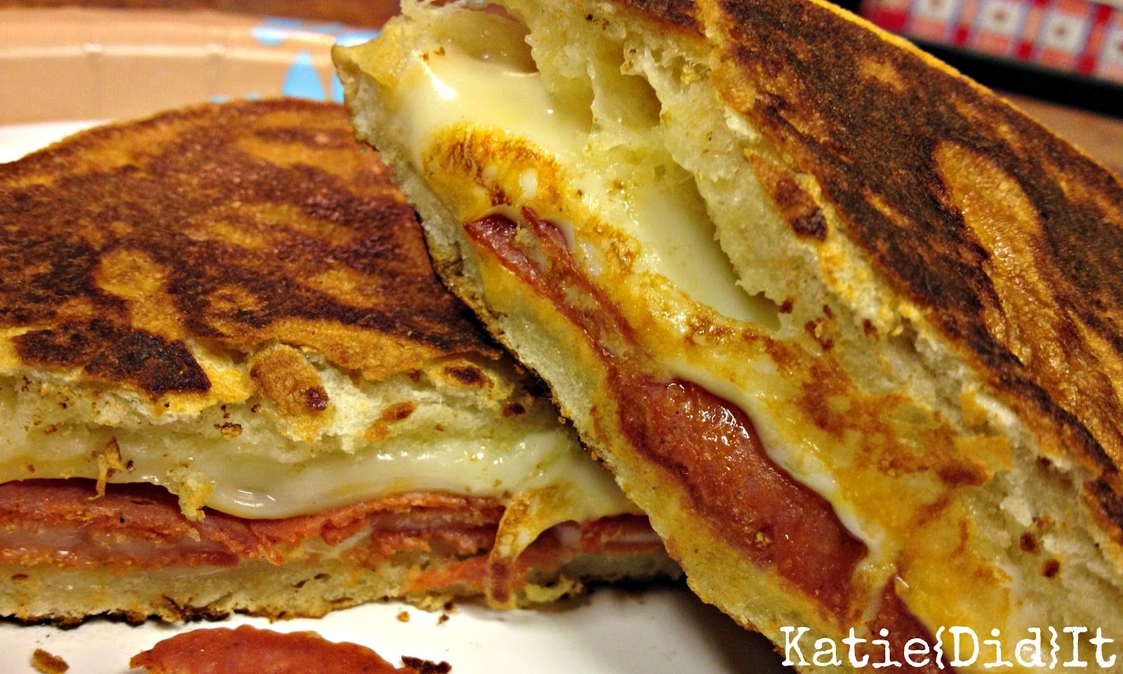 Katie{Did}It: Savory Sunday {12} Pizza Grilled Cheese