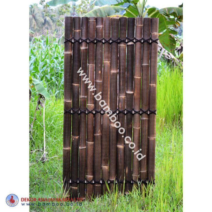 Black Bamboo Half Raft Panel, BAMBOO PANELS, BAMBOO PANEL