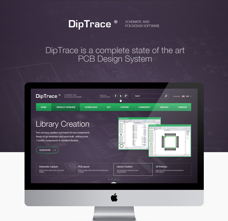 diptrace pcb design software free download