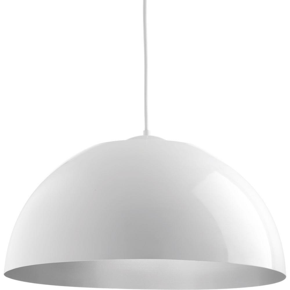 Progress lighting dome collection watt white integrated led