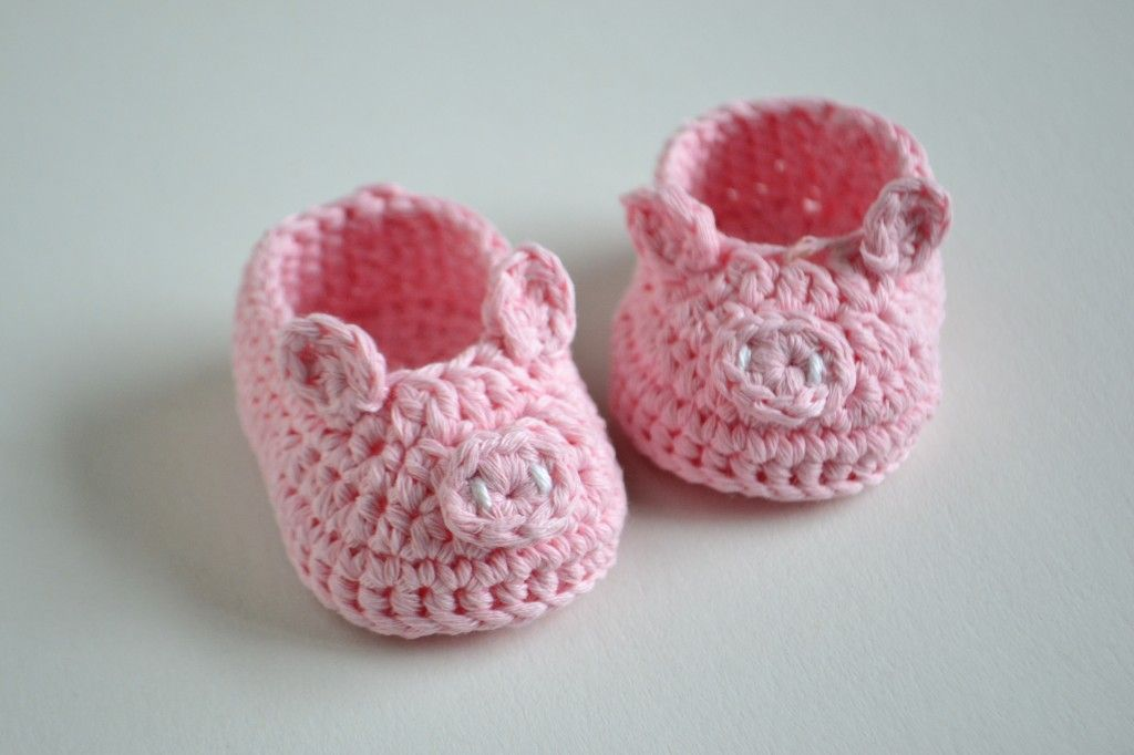 Croby Patterns | FREE Crochet Pattern – Piggy Baby Booties | KNIT ...