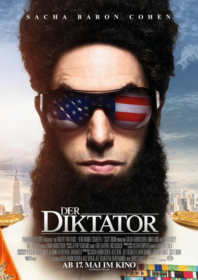 El dictador es una película estadounidense estrenada en 2012. Fue dirigida por Larry Charles y protagonizada por Sacha Baron Cohen, Anna Faris, Ben Kingsley, Jason Mantzoukas y John C. Reilly.