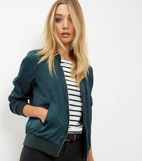 Green bomber jacket ladies new look