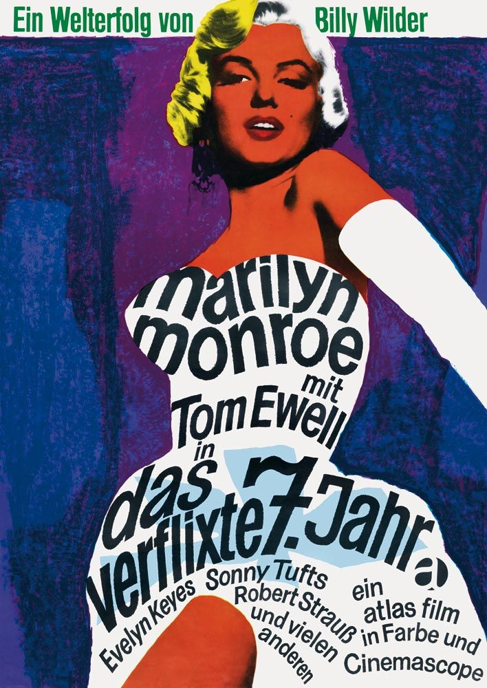 Seven Year Itch Marilyn Monroe Film Cinema Movie Poster Print Picture A3