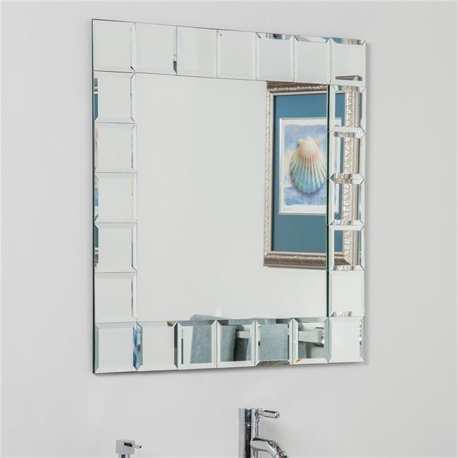 Decor Wonderland SSM414-1S Montreal Square Bathroom Mirror ...
