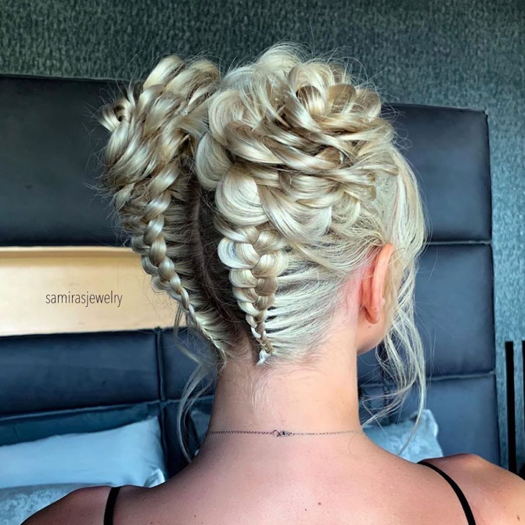 Braids Updos Inspiration On Instagram Space Buns Rose Braids Are Better Together Especially On Sellingsunse Braided Hairstyles Hairstyle Cool Braids