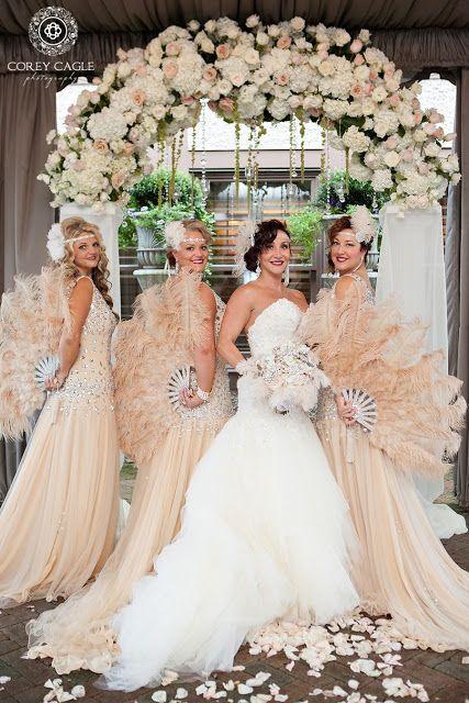 Gatsby Theme Wedding Bride And Bridesmaids Corey Cagle Photography Nc Wedding Photographer Gatsby Wedding Theme Gatsby Wedding Dress 1920s Wedding Theme