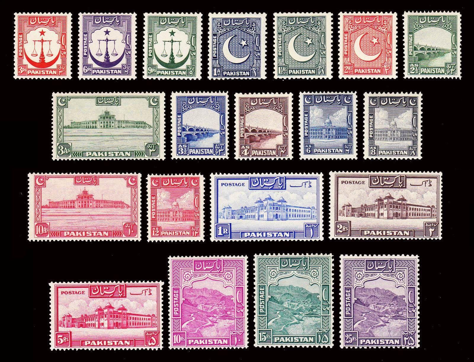 Estampillas De Pakistan Sellos Sellos Postales Filatelia