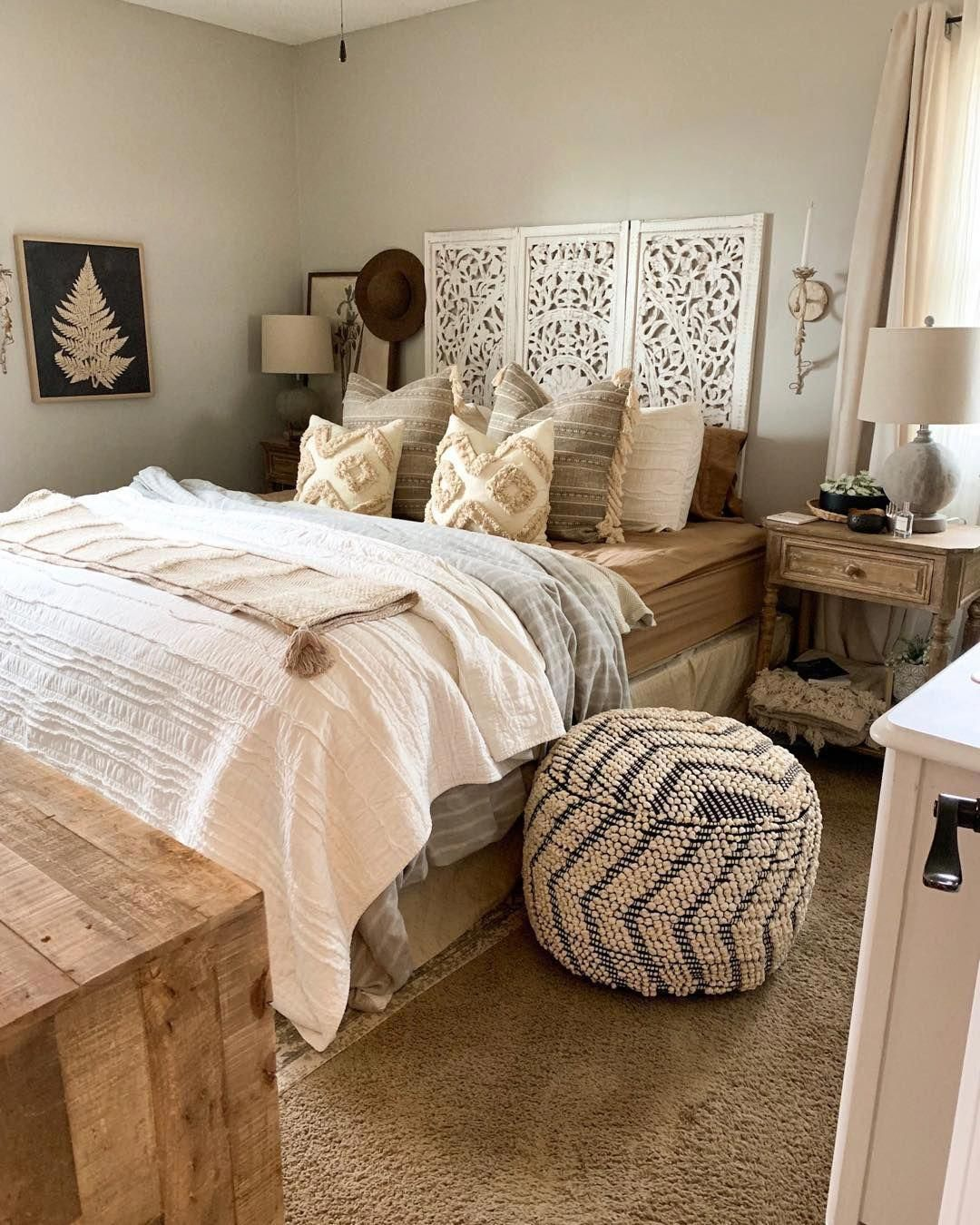 Awesome small bedroom ideas for couples #bedroom # ...