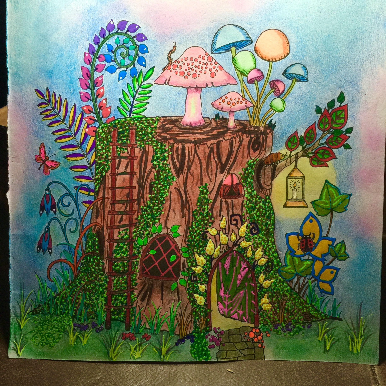 Fairy Tree Strump Condo, Enchanted Forest by Johanna Basford | My ...