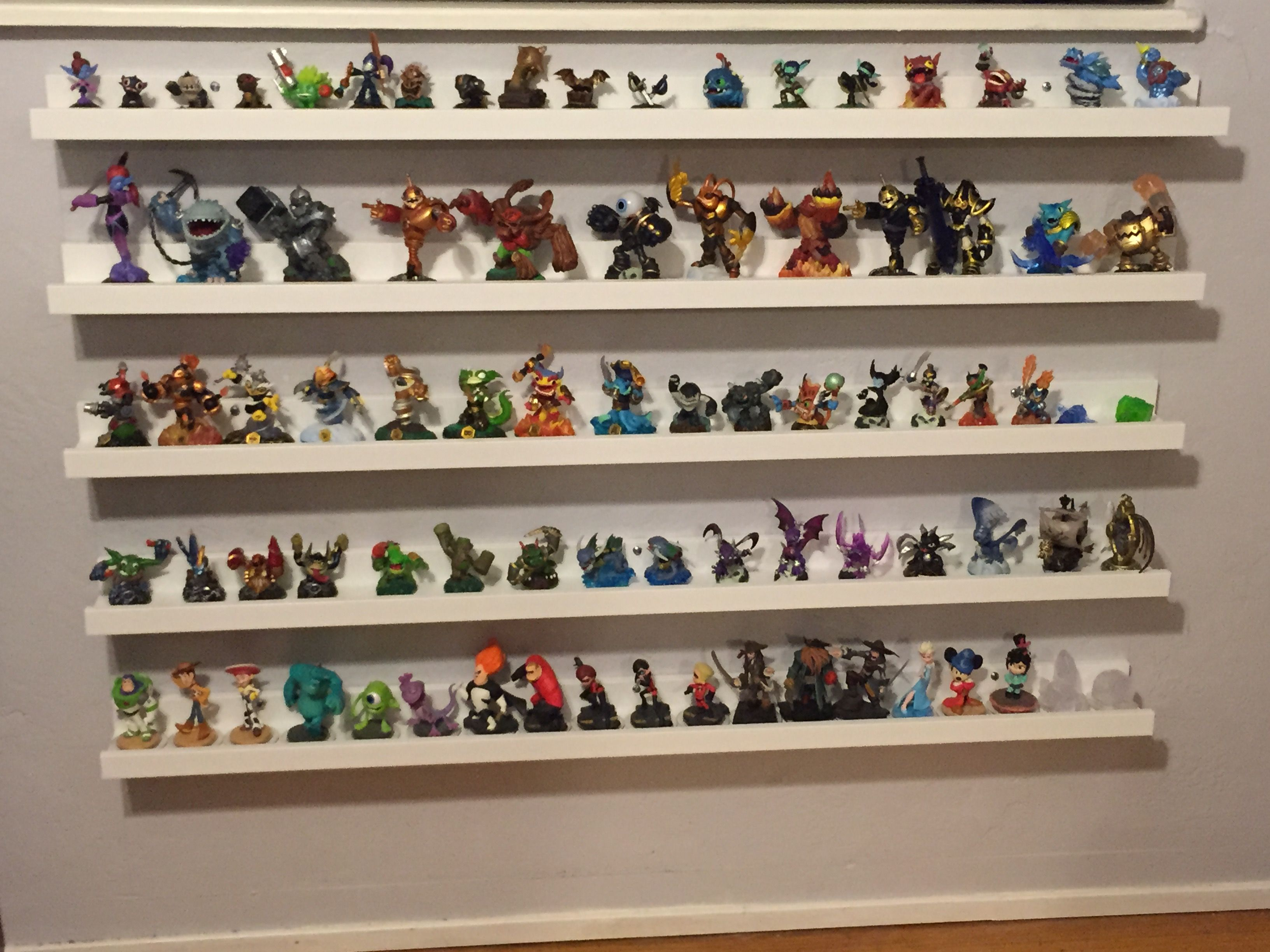 ikea picture ledges to hold skylanders and disney infinity. Black Bedroom Furniture Sets. Home Design Ideas