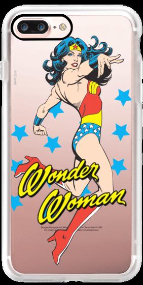 wonder woman comic poster iphone case
