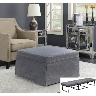 Designs4comfort Folding Bed Ottoman Gray Johar Furniture Ottoman Bed Furniture Folding Beds