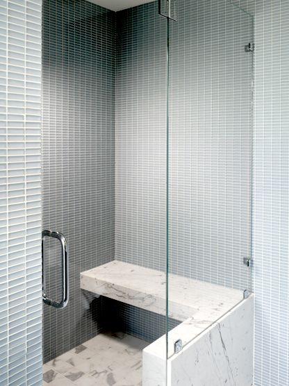 Great Use Of Stacked Small Rectangular Tile By Hulburd Design