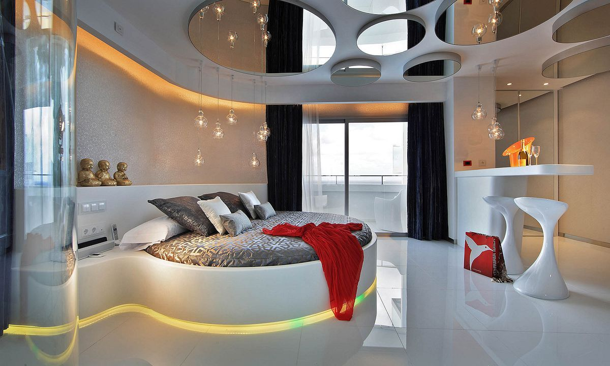 Ushuaia Ibiza Beach Hotel Spain Situated On Luxurious Bedrooms Round Beds Awesome Bedrooms