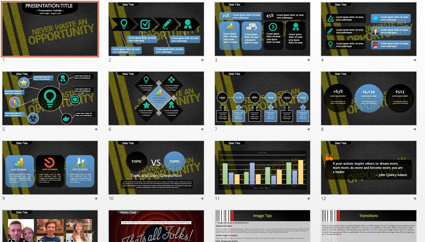 Never waste an opportunity powerpoint template free powerpoint never waste an opportunity powerpoint template toneelgroepblik Image collections