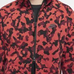 Photo of Nike Sportswear Tech Fleece Herren-Kapuzenpullover mit durchgehendem Reißverschluss und Print – Red NikeNike