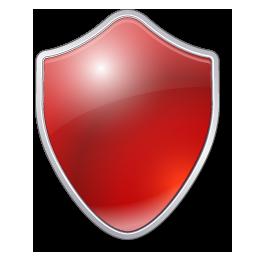 Antivirus Protection Shield Icon Shield Icon Icon Red Shield