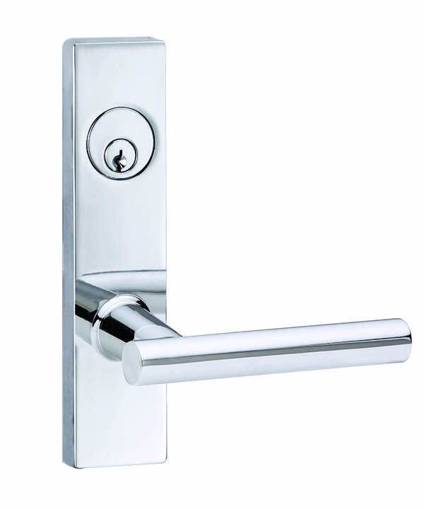 Bergen Residential Mortise Leverset - Polished Chrome