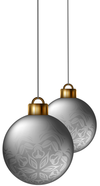 Silver Christmas Balls Png Clipart Image Silver Christmas Clip Art Christmas Balls