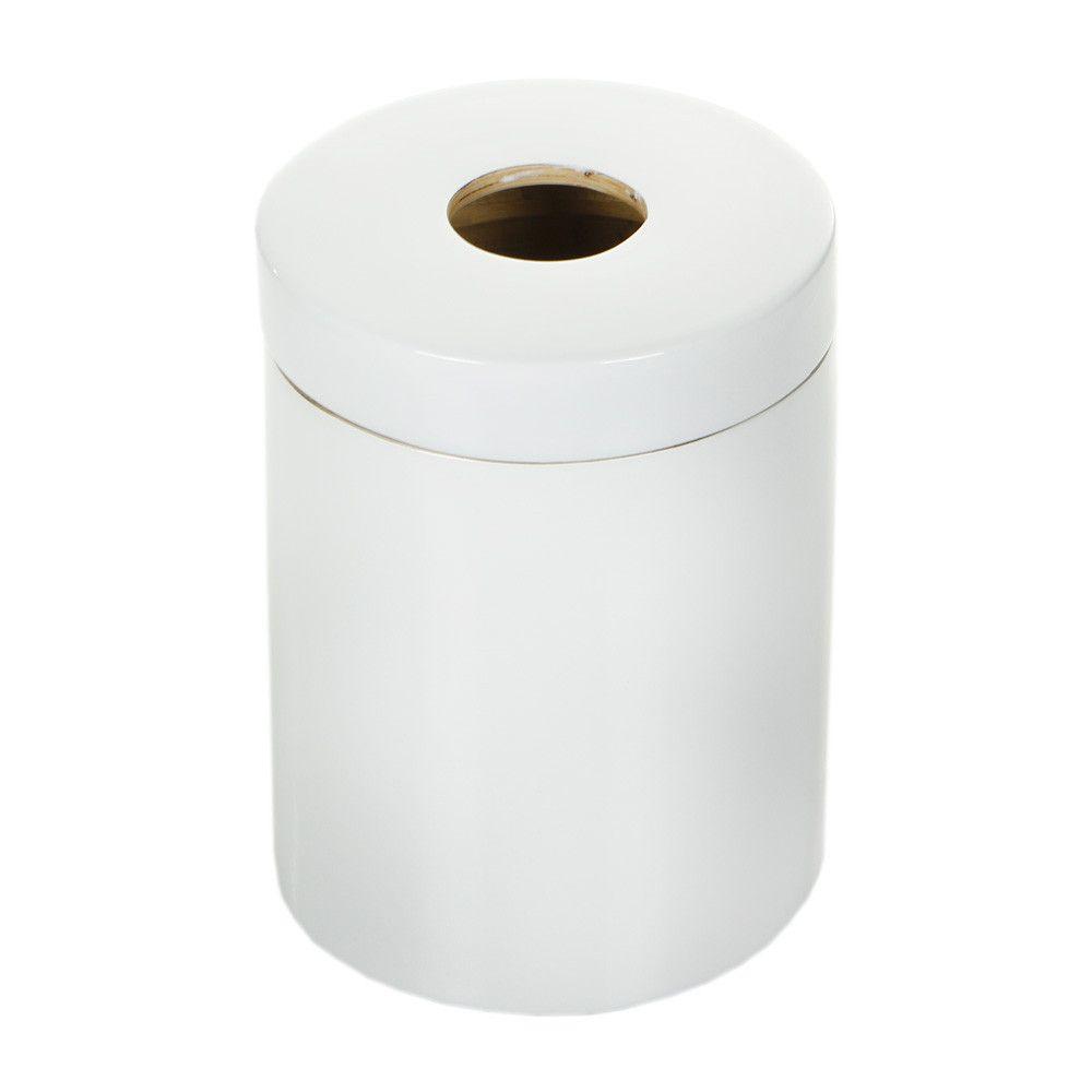 Ekobo Ringo Glossy Bathroom Bin White Amara