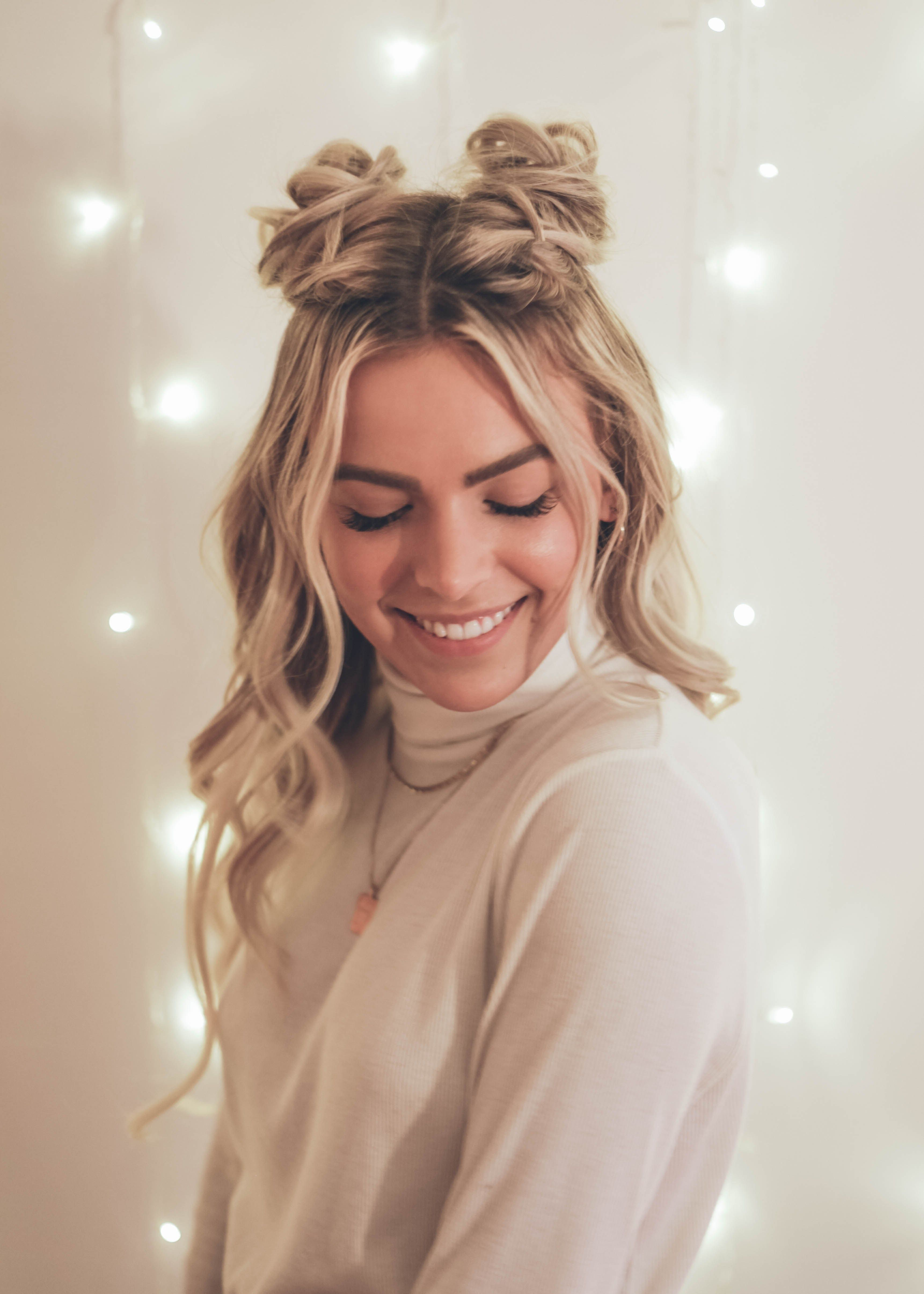 how to make space buns diy tutorial | hair style in 2019