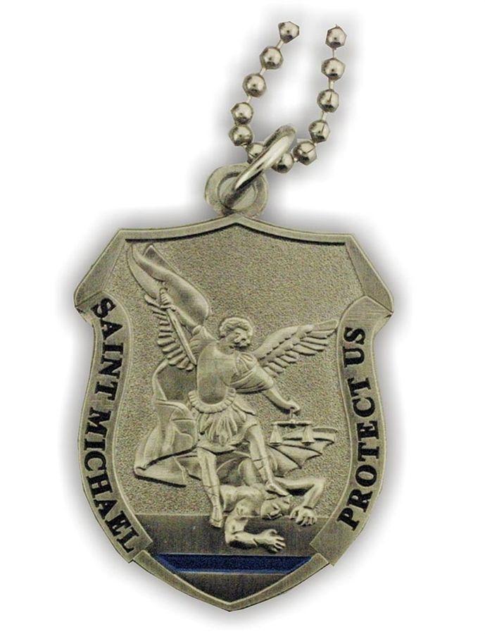 Saint michael protect us shield pendant saint michael and pendants saint michael protect us shield pendant aloadofball Gallery