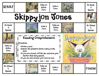 I love Skippyjon Jones!  This creative website has a comprehension game to go with the book!