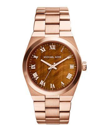 Michael Kors Channing Damen Uhren Rose Gold :