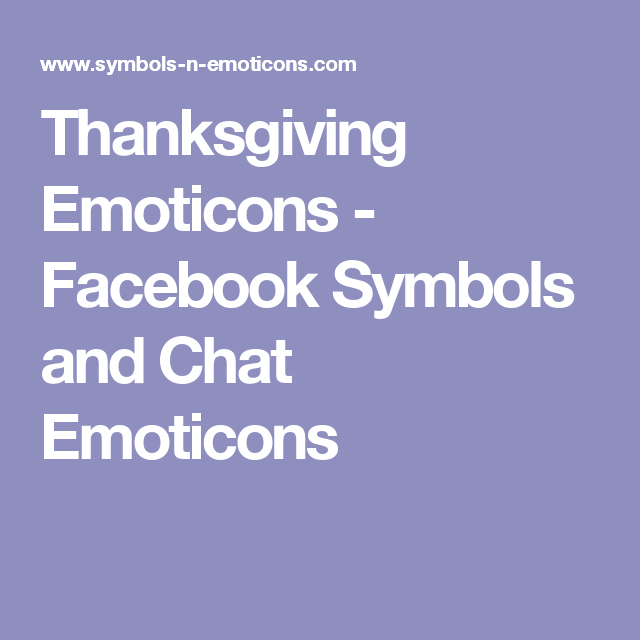 Thanksgiving Emoticons Facebook Symbols And Chat Emoticons