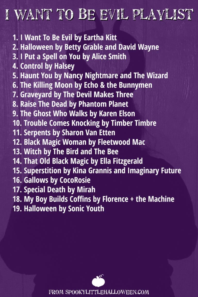 An Evil Playlist For Your Villainous Side This Halloween Halloween Playlist Halloween Music Halloween Fun