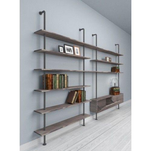 Photo of Svevo – Libreria per soggiorno in stile industriale – Designxtutti