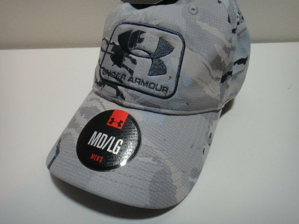 Details about Under Armour Mens Heatgear Hydro Camo Hat Size MD LG ... 48fd8b2ea21b