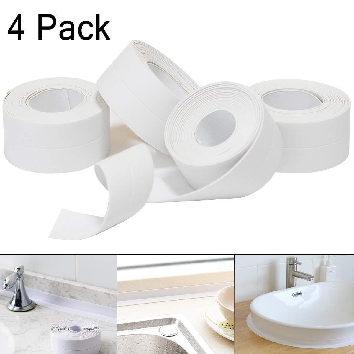 4 Stuck Selbstklebende Dichtband Wasserdichtes Klebeband Pe Material Auf Die Kuche Toilette Badewanne Wandecke Badezimmer In In 2020 Badezimmer Badewanne Klebeband