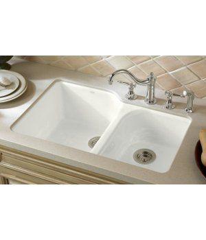 Kohler K 5931 4u Sink Double Bowl Kitchen Sink Cast Iron