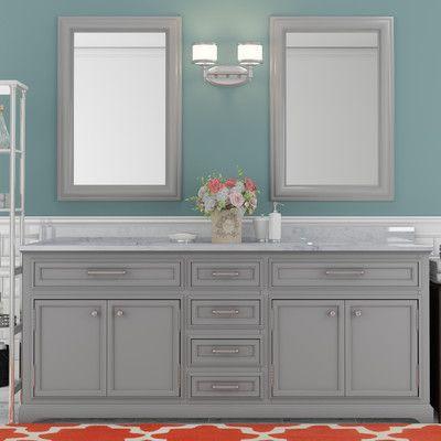 Calahan 60 Double Bathroom Vanity Set 72 Inch Bathroom Vanity Double Sink Bathroom Grey Bathroom Vanity