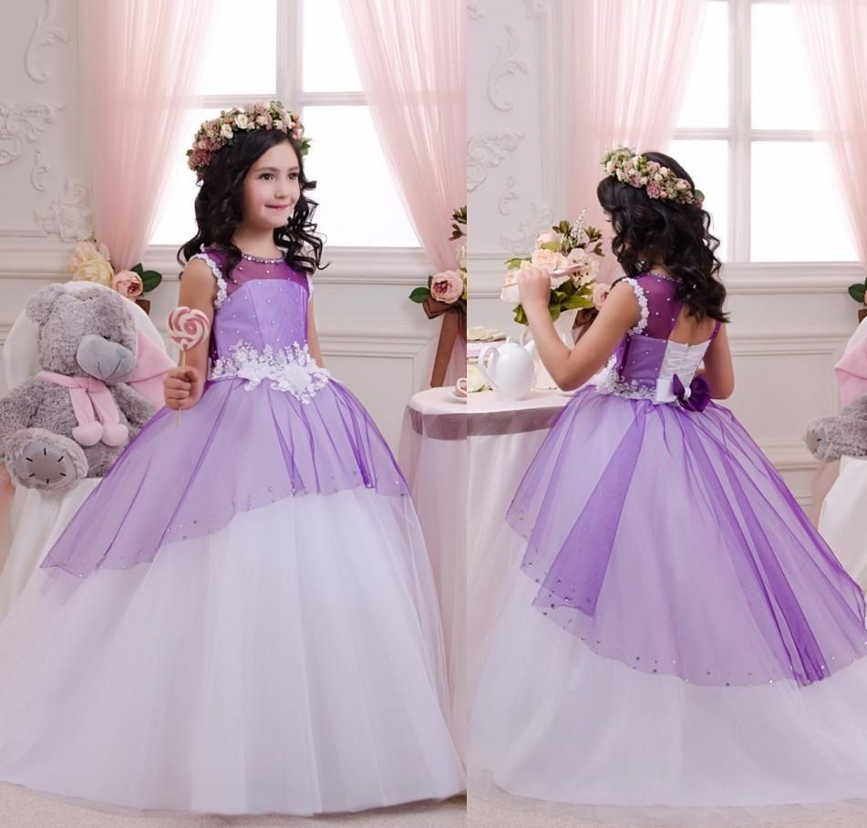 Charming Girls Pageant Formal Ball Gown,Princess Flower Girl Dresses ...