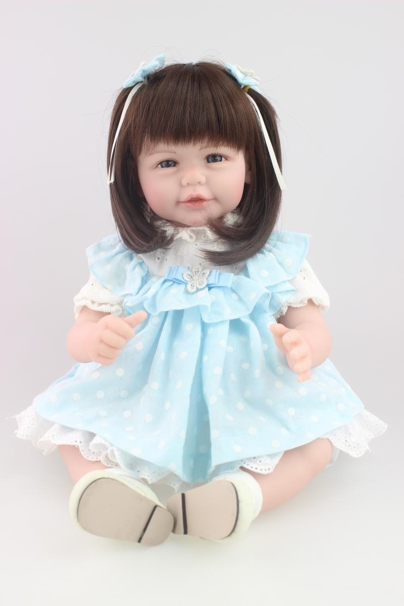 69.59$  Buy here - http://alik77.worldwells.pw/go.php?t=32407250705 - 52cm reborn baby girl doll Soft Vinyl  Girls Christmas Gift Baby Toys Birthday Gifts Juguetes LifeLike Play house toy Doll 69.59$
