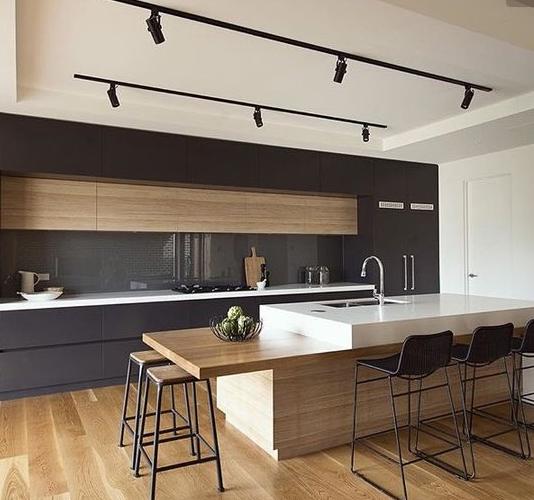 pingl par alejandro yancor sur cocinas pinterest id e de cuisine cuisines contemporaines. Black Bedroom Furniture Sets. Home Design Ideas