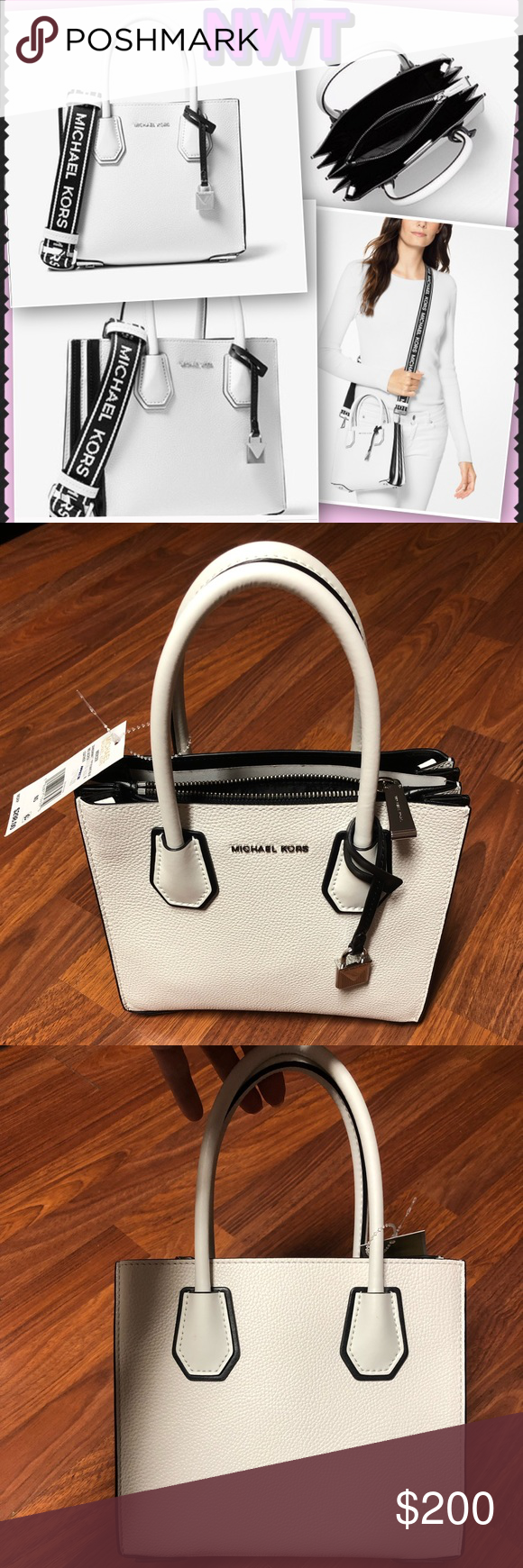 946d7039cf43ed NWT—MICHAEL Michael Kors Mercer Crossbody w/strap MICHAEL Michael Kors  Mercer Medium Leather