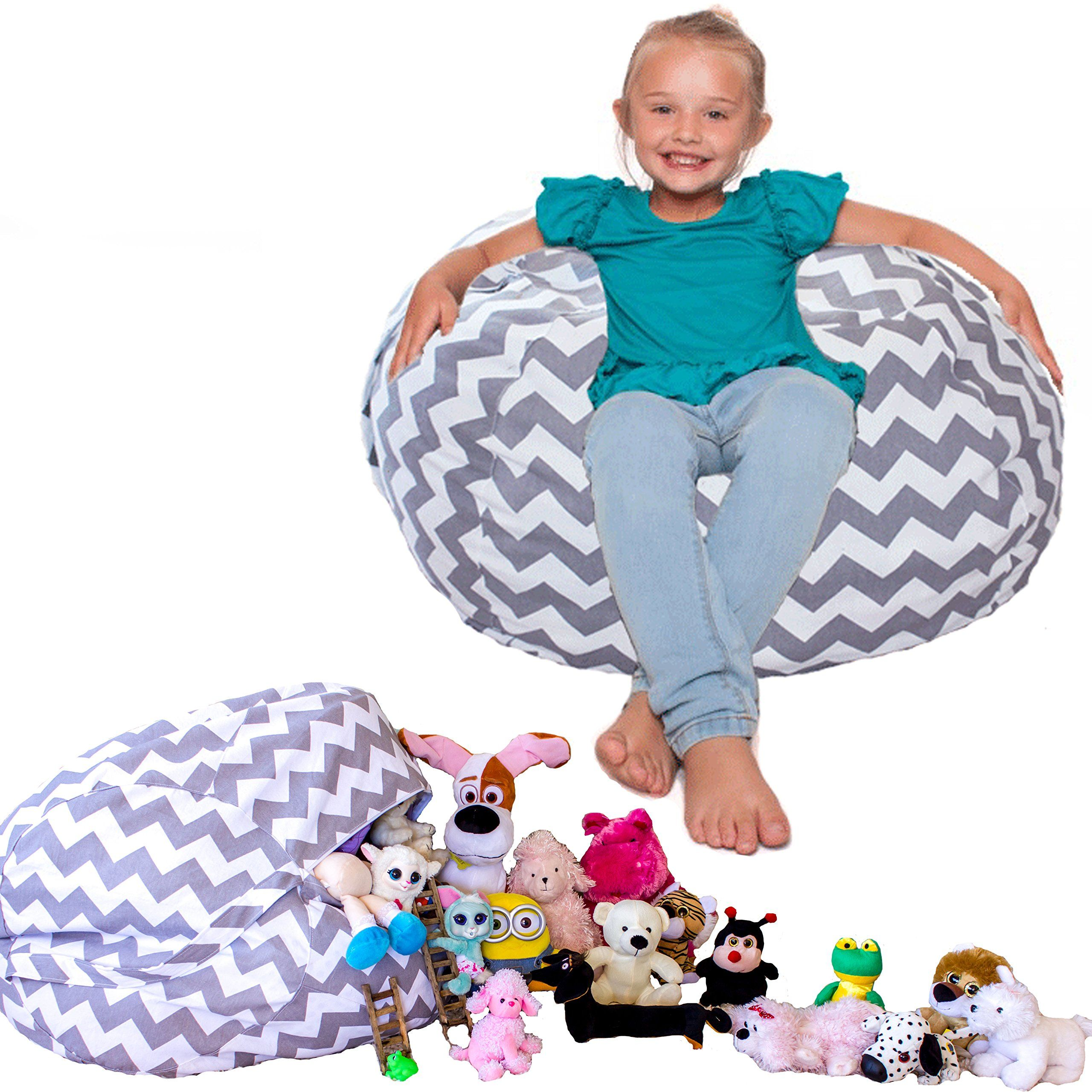 Marvelous Stuffed Animal Storage Beanbag Style The Popular Chevron Pdpeps Interior Chair Design Pdpepsorg